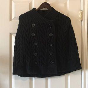 RARE Parasuco cable knit cape sweater caplelet